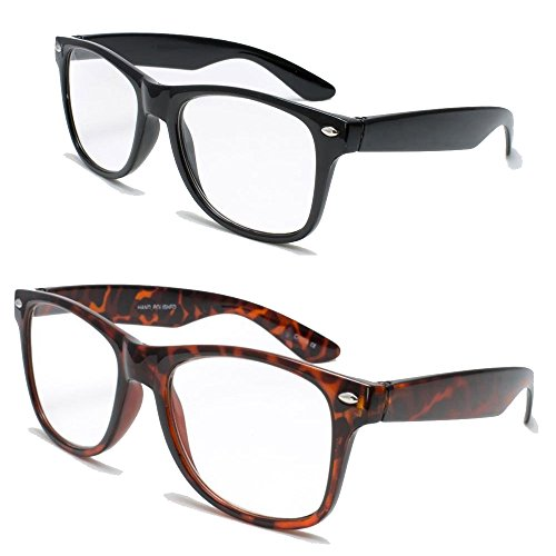 293687d95f5 2 Pairs Deluxe Wayfarer Style Reading Glasses - Comfortable Stylish Simple  Readers Rx Magnification 1 tortoise 1 black