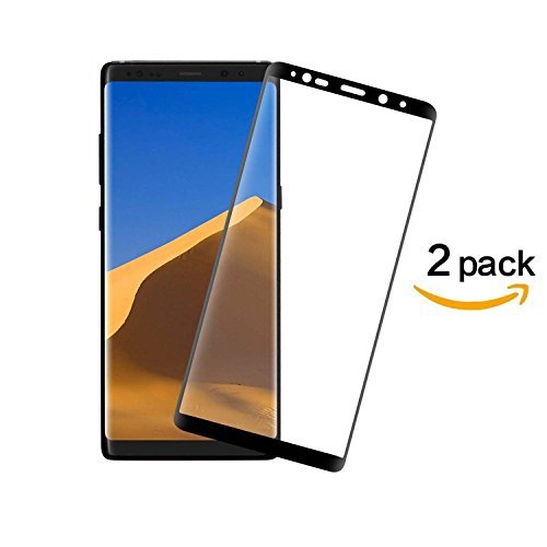 2-pack galaxy note 8 screen protector, defitch full coverage Anti-Scratch, Anti-Fingerprint, Easy to Install Curved Tempered Glass Screen Protector for ...